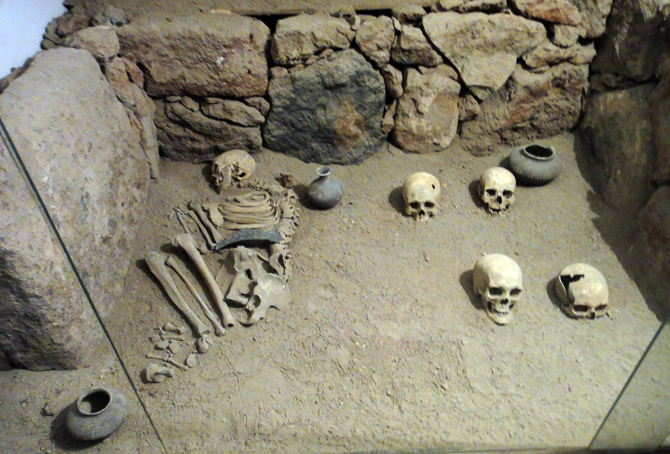 Reconstruction of grave